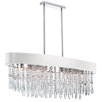 Dainolite Josephine 8 Light Chandelier in Polished Chrome with White Baroness Shade JMS368-PC-693
