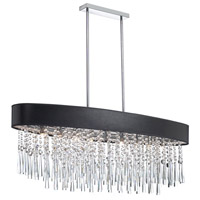 Dainolite Josephine 8 Light Chandelier in Polished Chrome with Black Lizagator Shade JMS368-PC-770