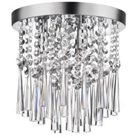 Crystal 3 Light 10 inch Polished Chrome Flush-Mount Ceiling Light