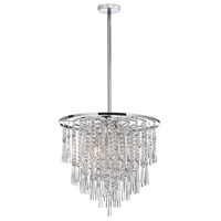 Crystal 8 Light 20 inch Polished Chrome Chandelier Ceiling Light