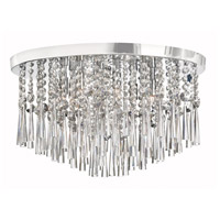 Crystal 8 Light 20 inch Polished Chrome Flush-Mount Ceiling Light