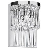 Crystal 2 Light 5 inch Polished Chrome Wall Lamp Wall Light