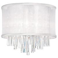 Dainolite Josephine 3 Light Flush Mount in Polished Chrome with White Organza Shade JOS103FH-PC-119