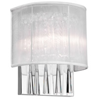 Dainolite Josephine 2 Light Wall Sconce in Polished Chrome JOS72-W-PC-119