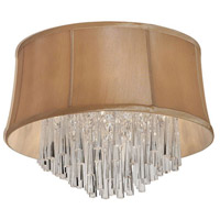 Dainolite Julia 4 Light Flush Mount in Polished Chrome with Silk Glow Latte Shade JUL184FH-PC-138