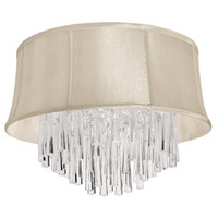 Dainolite Silk Glow Crystal 4 Light 18 inch Polished Chrome Chandelier Ceiling Light