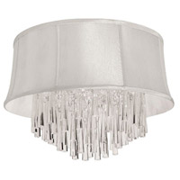 Dainolite Julia 4 Light Flush Mount in Polished Chrome with Silk Glow Pearl Shade JUL184FH-PC-140