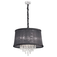 Dainolite Julia 6 Light Chandelier in Polished Chrome JUL226-PC-115