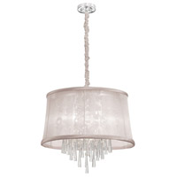 Julia 6 Light 22 inch Polished Chrome Chandelier Ceiling Light