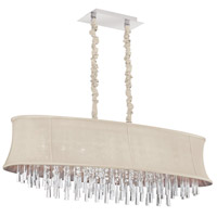 Silk Glow Crystal 8 Light 15 inch Polished Chrome Chandelier Ceiling Light
