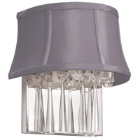 Dainolite Silk Glow 2 Light Sconce in Polished Chrome with Silk Glow Steel Shade JUL92W-PC-134