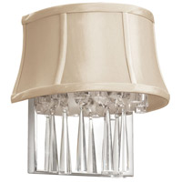 Dainolite Silk Glow Crystal 2 Light Wall Lamp in Polished Chrome JUL92W-PC-139