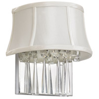Dainolite Julia 2 Light Sconce in Polished Chrome with Silk Glow Pearl Shade JUL92W-PC-140 photo thumbnail