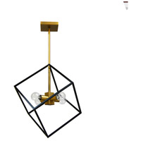 Dainolite KAP-144P-VB-MB Kappa 4 Light 14 inch Vintage Bronze and Matte Black Pendant Ceiling Light