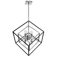 Kappa 6 Light 19 inch Polished Chrome and Matte Black Pendant Ceiling Light