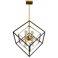 Dainolite KAP-196P-VB-MB Kappa 6 Light 19 inch Vintage Bronze and Matte Black Pendant Ceiling Light