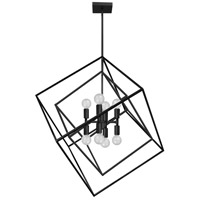 Dainolite KAP-278P-MB Kappa 8 Light 27 inch Matte Black Pendant Ceiling Light