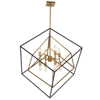 Dainolite KAP-308P-VB-MB Kappa 8 Light 30 inch Vintage Bronze and Matte Black Pendant Ceiling Light