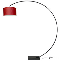 Dainolite Arc 1 Light Floor Lamp in Black KDARC-BK-RD