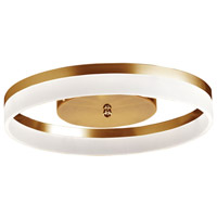 Kepler 1 Light 18 inch Gold Flush Mount Ceiling Light
