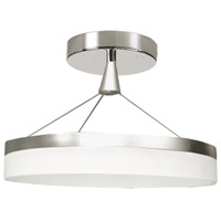Kepler LED 18 inch Silver and Chrome Pendant Ceiling Light