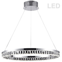 Dainolite KIM-31C-PC Kimberly LED 31 inch Polished Chrome Chandelier Ceiling Light Round