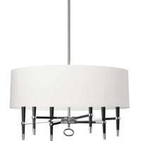 Dainolite LAN-246C-PC-WH Langford 6 Light 32 inch Chrome Chandelier Ceiling Light in Polished Chrome White