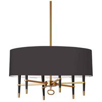 Dainolite LAN-246C-VB-BK Langford 6 Light 32 inch Vintage Bronze Chandelier Ceiling Light in Black