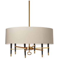 Dainolite LAN-246C-VB-CRM Langford 6 Light 32 inch Vintage Bronze Chandelier Ceiling Light