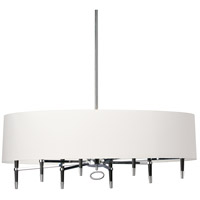 Dainolite LAN-408HC-PC-WH Langford 8 Light 45 inch Chrome Chandelier Ceiling Light in Polished Chrome White