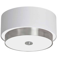 Larkin 3 Light 14 inch Satin Chrome Flush Mount Ceiling Light