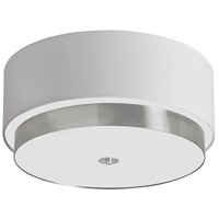 Larkin 4 Light 20 inch Satin Chrome Flush Mount Ceiling Light