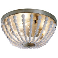 Dainolite Laura 3 Light Chandelier in Palladium Gold with White Washed Shade LAU-143FH-PG
