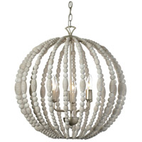 Dainolite Laura 6 Light Chandelier in Palladium Gold with White Washed Shade LAU-216C-PG