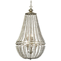 Laura 6 Light 21 inch Palladium Gold Chandelier Ceiling Light