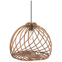 Dainolite LIL-171P-WD Lilian 1 Light 17 inch Wood Pendant Ceiling Light