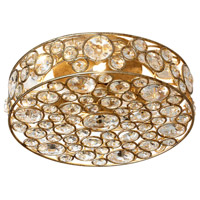 Dainolite Lynda 4 Light Flush Mount in Gold with Optical Crystals LYN-13-4FH-GLD