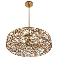 Dainolite Lynda 6 Light Chandelier in Gold with Optical Crystals LYN-18-6-GLD