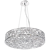 Dainolite Lynda 8 Light Chandelier in Polished Chrome LYN-228C-PC