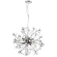 Dainolite Lyric 6 Light Chandelier in Polished Chrome LYR-196C-PC