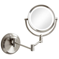 Dainolite Lighting Mirror 1 Light Wall Lamp in Satin Chrome  MAGMIR-1W-SC