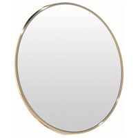 Dainolite Mirror Attachment Mirror in Satin Brass MAGMIR-4W-SB