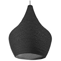 Dainolite MAS-191P-BK Mashe LED 10 inch Black Pendant Ceiling Light