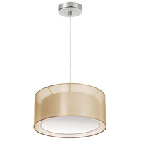 Signature 2 Light 17 inch Gold and Satin Chrome Pendant Ceiling Light