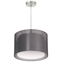 Signature 1 Light 18 inch Black and Satin Chrome Pendant Ceiling Light