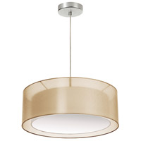 Signature 3 Light 20 inch Gold and Satin Chrome Pendant Ceiling Light