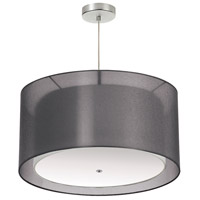 Signature 3 Light 26 inch Black and Satin Chrome Pendant Ceiling Light