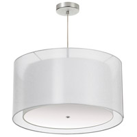 Signature 3 Light 26 inch White and Satin Chrome Pendant Ceiling Light