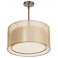 Dainolite Lighting Melissa 3 Light Chandelier in Oil Brushed Bronze  MEL228-811-720-OBB