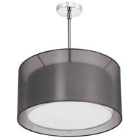 Melissa 3 Light 22 inch Satin Chrome Chandelier Ceiling Light